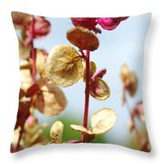 Purple Goosefoot Chenopodium Throw Pillow