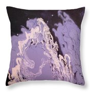 Purple Series No. 1 Throw Pillow