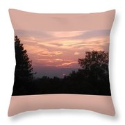 Purple Summer Evening Throw Pillow