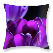Purple Tulips 1 Throw Pillow