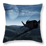 Pursuit Of The Fox  Throw Pillow