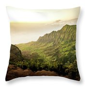 Puu O Kila Lookout, Kauai, Hi Throw Pillow by T Brian Jones