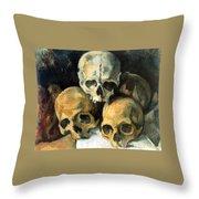 Pyramid Of Skulls Throw Pillow