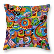 Quantum Strands Throw Pillow