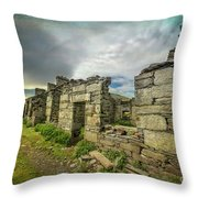 Quarry Cottages Throw Pillow
