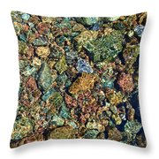 Quarry Rocks Through Water Throw Pillow