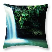 Quebrada Juan Diego Waterfall Throw Pillow