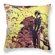 Quechua Man- Peru Throw Pillow
