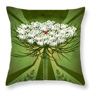 Queen Anne's Lace Print Throw Pillow