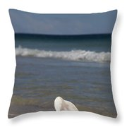Queen Conch On The Beach Throw Pillow