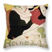 Queen Of Joy Throw Pillow