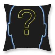 Question Mark Throw Pillow