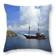 Silent Diving Bay On The Coast Of Sulawesi Throw Pillow