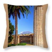 Quiet Vesuvius Throw Pillow