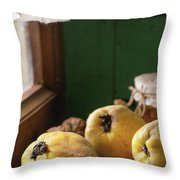 Quince And Honey Throw Pillow