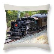 Quincy Railroad No. 2 Throw Pillow