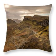 Quiraing Skye Throw Pillow