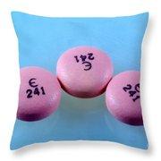Rabeprazole, 10mg Pill Throw Pillow