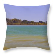Racine Lakefront Throw Pillow