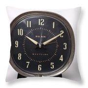 Radium Dial On Clock Throw Pillow