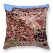 Rafting The Colorado Throw Pillow