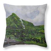 Visapur Fort Throw Pillow