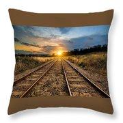Railroad Throw Pillow