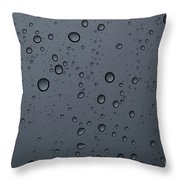 Rain On A Window Throw Pillow