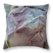 Rainbow Colored Sandstone In Valley Of Fire Throw Pillow