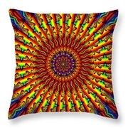 Rainbow River Throw Pillow