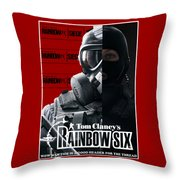 Rainbow Six Throw Pillow
