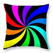 Rainbow Spectral Swirl Throw Pillow