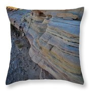 Rainbow Wave Of Sandstone In Valley Of Fire Throw Pillow