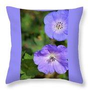 Raindrops On Purple Throw Pillow