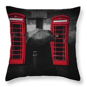 Rainy Day In Manchester Throw Pillow
