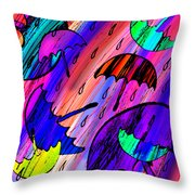 Rainy Day Love Throw Pillow
