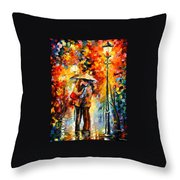 Rainy Kiss Throw Pillow