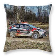 Rally Car Throw Pillow