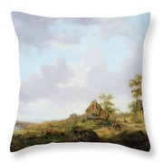 Ramblers On A Path Throw Pillow