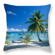 Rangiroa Atoll, Kia Ora Throw Pillow