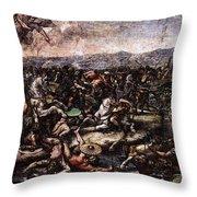 Raphael The Battle At Pons Milvius  Throw Pillow