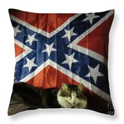 Rebel Cat Throw Pillow