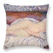 Reclining Nude Throw Pillow