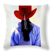 Red Ahead Throw Pillow