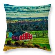 Red Barn - Pennsylvania Throw Pillow