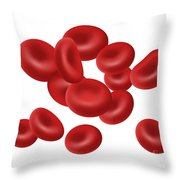 Red Blood Cells, Illustration Throw Pillow