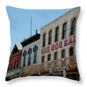 Red Dog Saloon Throw Pillow
