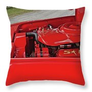 Red Engine Throw Pillow