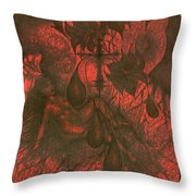 Red Hell  Throw Pillow