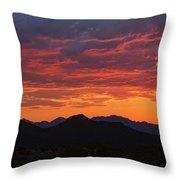 Red Hot Desert Skies  Throw Pillow